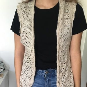Maurice's sleeveless cardigan